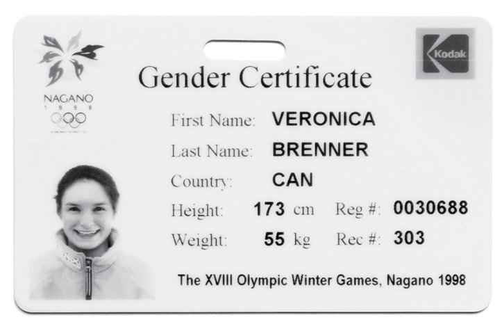 Gender certificate Veronica Brenner