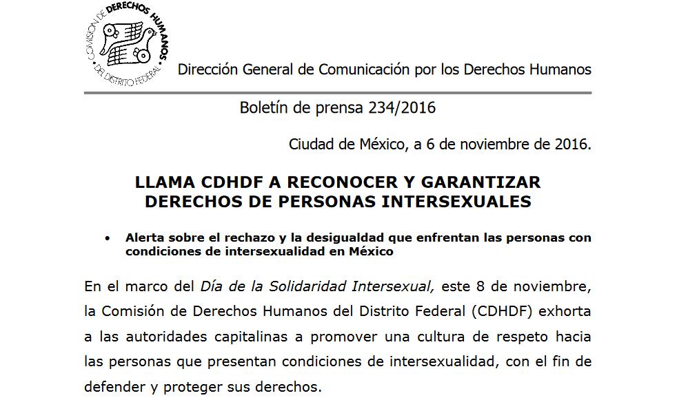 Documento: Boletín de prensa – La CDHDF llamó a reconocer y ...